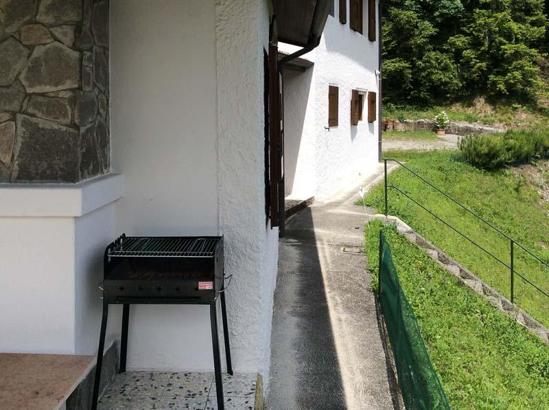 Barbecue op terras